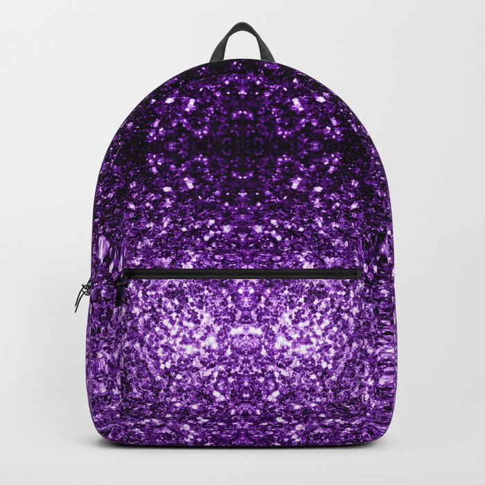 Beautiful Dark Purple glitter sparkles Backpack