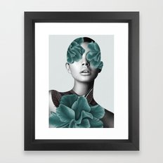Floral Portrait (woman) Framed Art Print