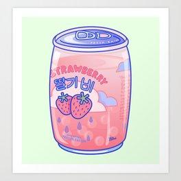 Strawberry Rain Art Print