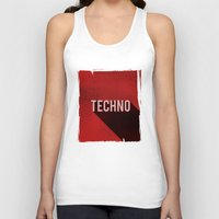 techno Tank Tops featuring Techno by Barbo's Art