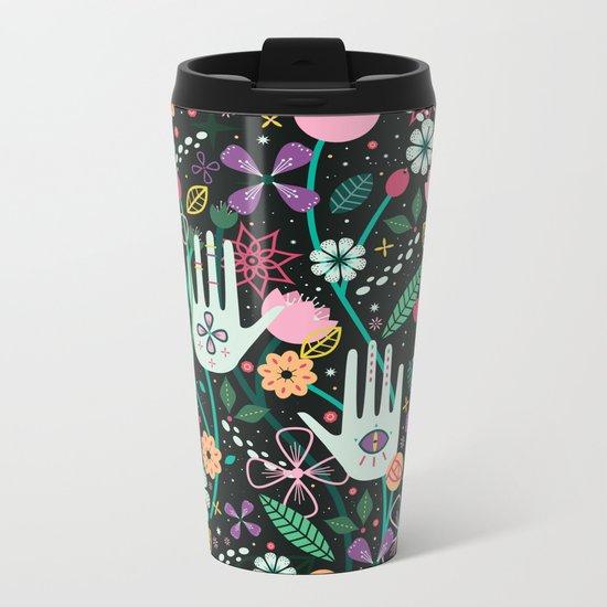 Botanical Hands Metal Travel Mug
