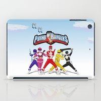 power rangers iPad Cases featuring porno rangers by Anthrackie