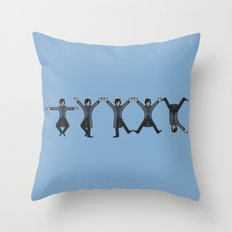 Dancing Sherlock Throw Pillow