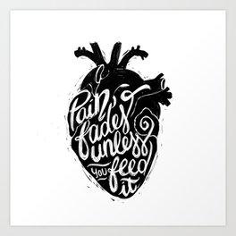 Typo Pain Art Print