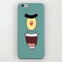 spongebob iPhone & iPod Skins featuring PLANKTON SPONGEBOB by September 9