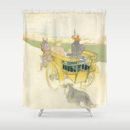 """Henri de Toulouse-Lautrec """"Partie de Campagne"""" Shower Curtain"""