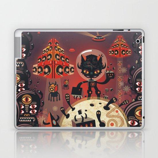 DJ Hammerhand cat - party at ogm garden Laptop & iPad Skin