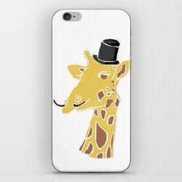 Gentleman Giraffe iPhone Skin