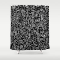 doodle Shower Curtains featuring Doodle by AITCH