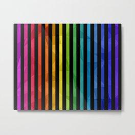 BLACK + RAINBOW Metal Print