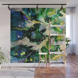 Explosions of Green Wall Mural