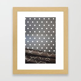 Curtain Dots Framed Art Print