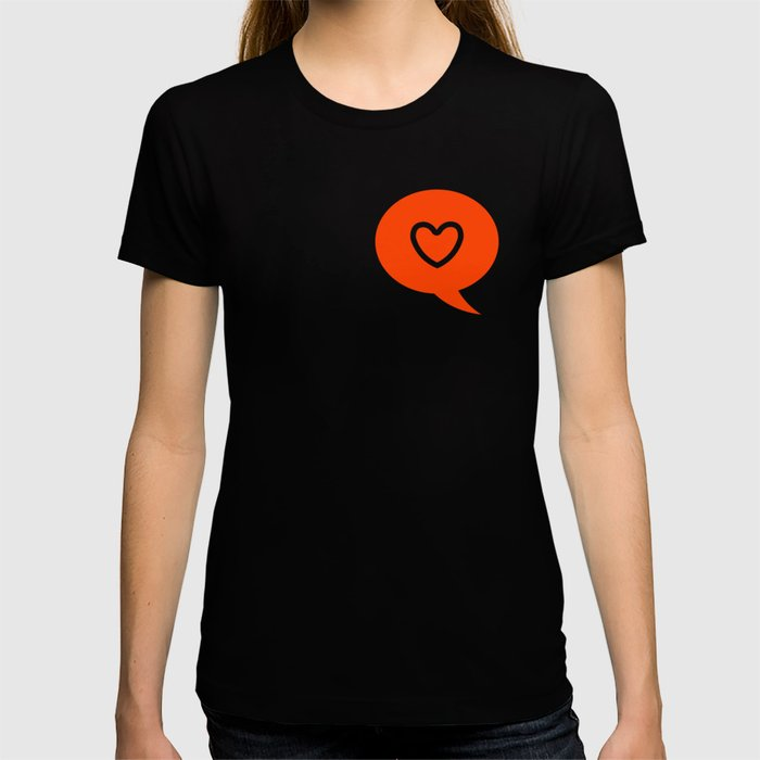 HEART LIKE message T-shirt