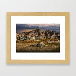 Badlands National Park Framed Art Print