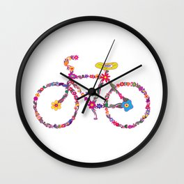 Bike Flourish Wall Clock
