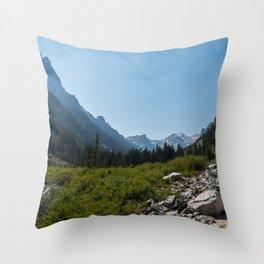 Cascade Canyon, Grand Teton National Park Throw Pillow