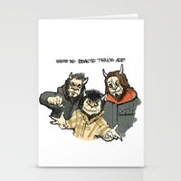 beastie boys Stationery Cards featuring Where The Beastie Things Are by Derek Salemme