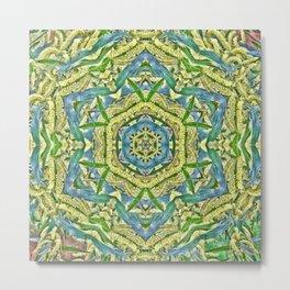 Beautiful wattle mandala Metal Print
