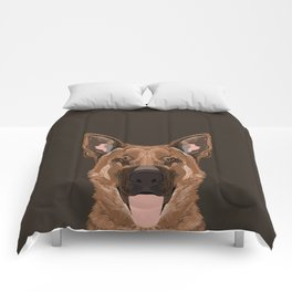 Skylar - German Shepherd gifts for dog people dog lover gifts german shepherd owners perfect gifts  Comforters