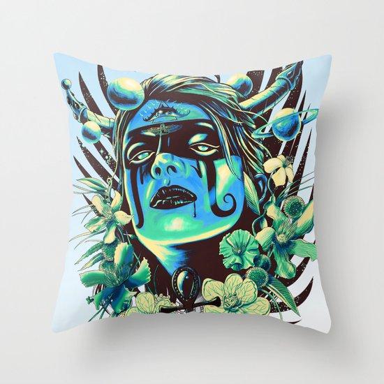 Hathor (Cool) Throw Pillow