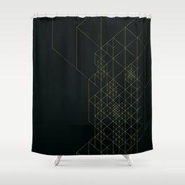 Dark Hitech Shower Curtain