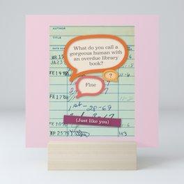 Library fine pink Mini Art Print
