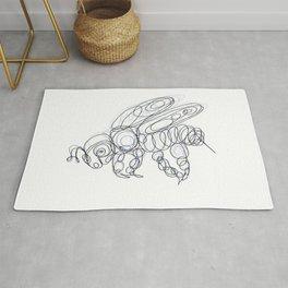 Honey Bee Line Drawing Rug