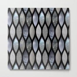 Silver Scales Metal Print