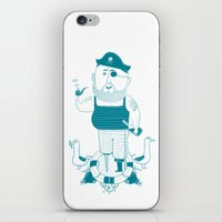 pirate iPhone & iPod Skins featuring Pirate by angry bean