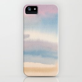 Abstract Watercolor Landscape iPhone Case