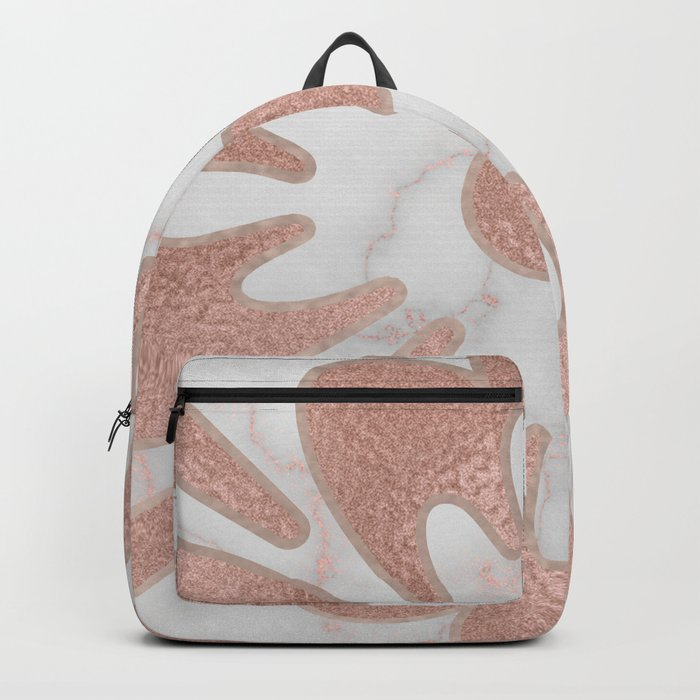 Maldives mandala - rose gold marble Backpack