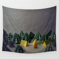 camp Wall Tapestries featuring camp by Chelsea Gass