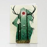 murakami Stationery Cards featuring Nature Goddess by Yago Murakami