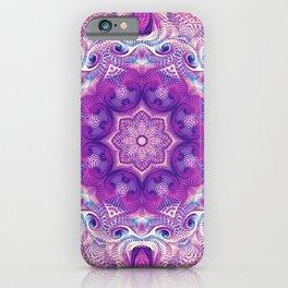 Flower Of Life Mandala (Iris) iPhone Case