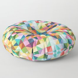 Springtime Pastel Color Triangle Square Pattern Floor Pillow