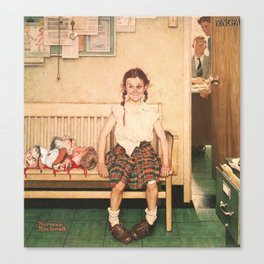 Heads Did Roll (Abnormal Rockwell) Canvas Print