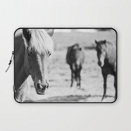 B&W horses Laptop Sleeve