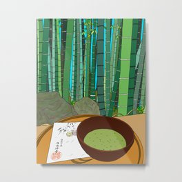 Bamboo Temple in Japan Metal Print