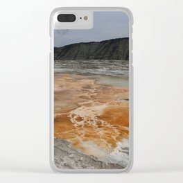 Mammoth Hot Spring Colors Clear iPhone Case