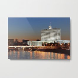 The White House. Moscow. Metal Print