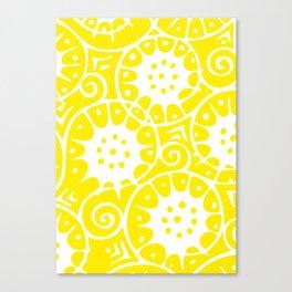 Lemon Swirl Pattern Canvas Print