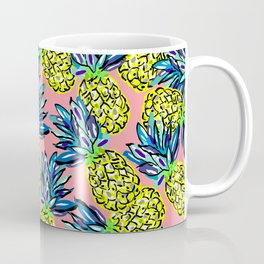 pineapples on flamingo pink Coffee Mug