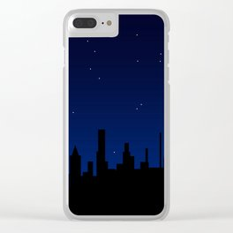 Christmas Star Over A City Clear iPhone Case