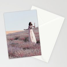Lavender girl Stationery Cards
