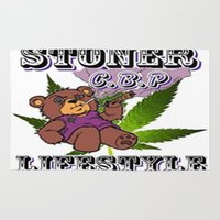 cannabis Area & Throw Rugs featuring The King Of Cannabis Timothy The Cannabis Bear  by Timmy Ghee CBP/BMC Images  copy written