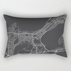 Madison Map, USA - Gray Rectangular Pillow