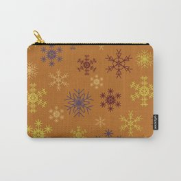 Cute Modern Christmas Snowflakes Repeating Seamless Pattern Carry-All Pouch