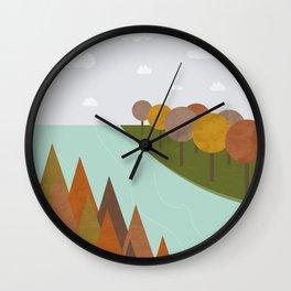 Autumn colours Wall Clock