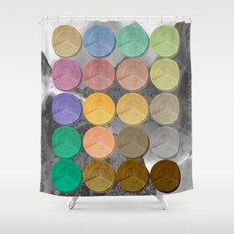 Crop Circles 3 Shower Curtain