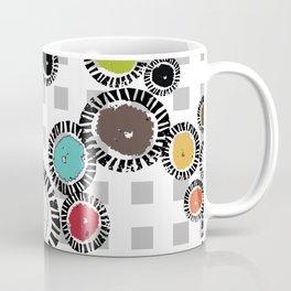 Wedge Circle on Gray Check Coffee Mug